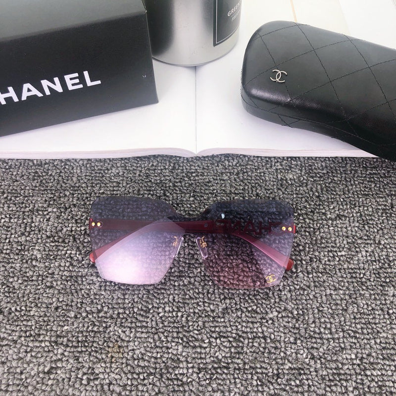 6 Colors gradient frameless sunglasses