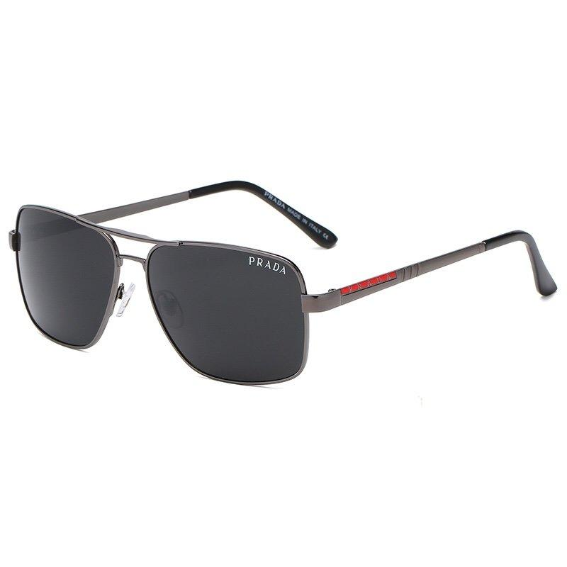 4 Colors Double Bridge Square Frame Sunglasses