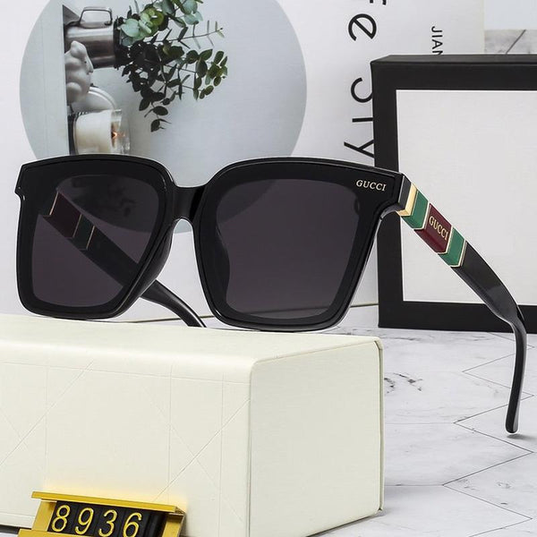 4 Colors Stripe Letter Temple Sunglasses