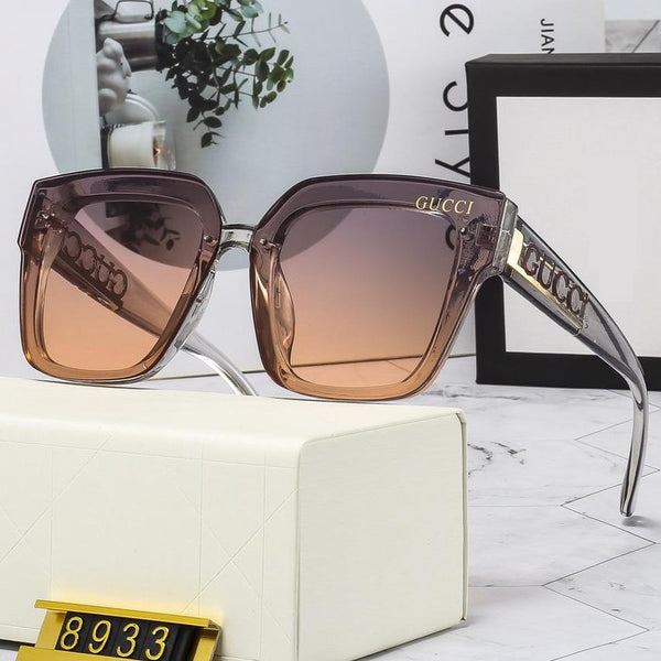 4 Colors PC Letter Temple Sunglasses
