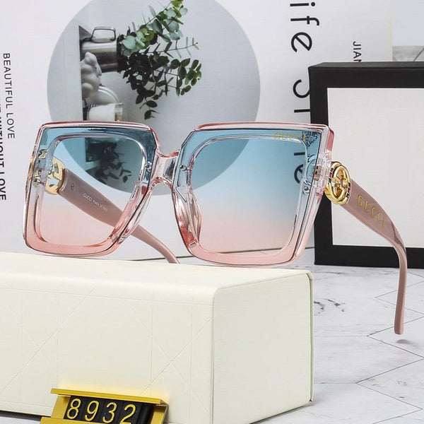4 Colors Hollow Out Metal Letter Frame Sunglasses