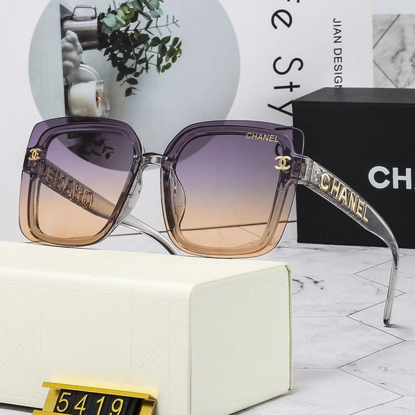 5 Colors Letter Temple Sunglasses