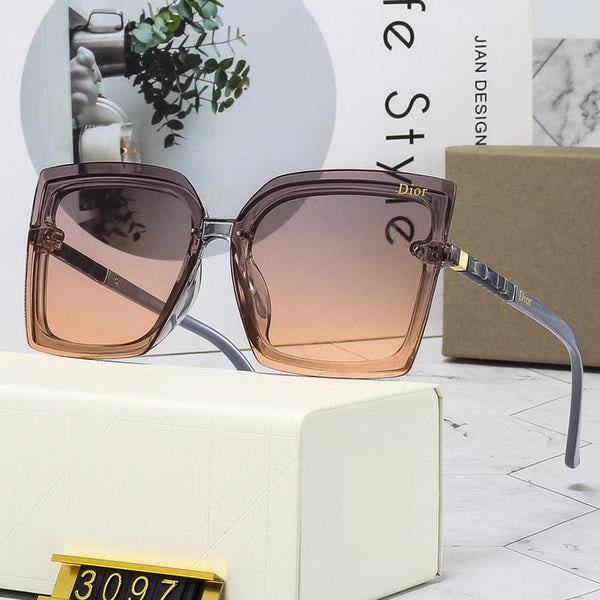 5 Colors Wavy Pattern Temple Sunglasses