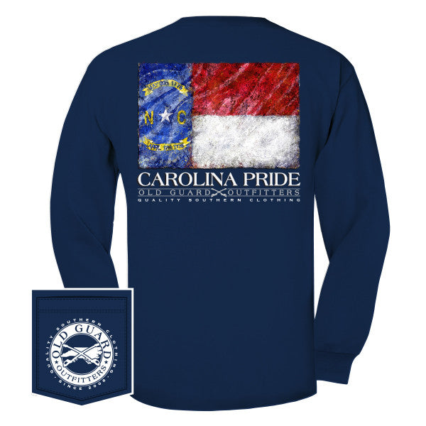 North Carolina  Painterly Flag Long Sleeve