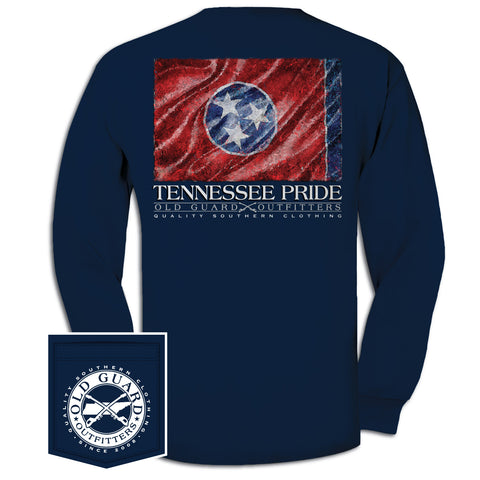 Tennessee Painterly Flag Long Sleeve