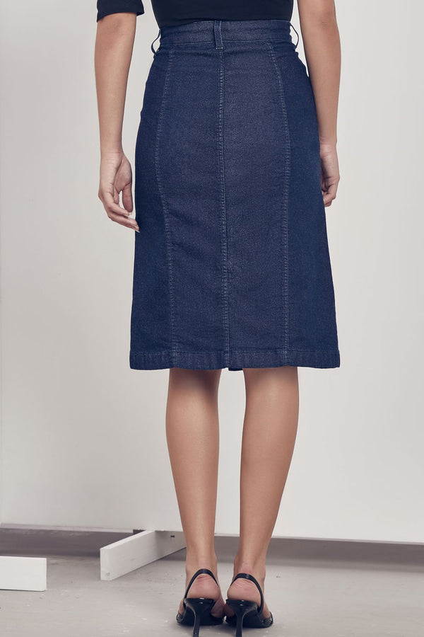 Saia Kate Midi Dark Blue