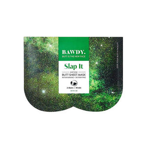 Green packaging of Bawdy Bite It butt sheet mask