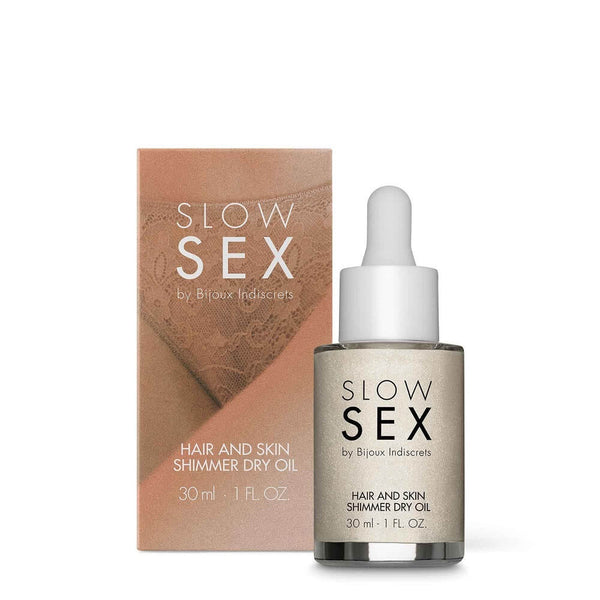 Bijoux Indiscrets Slow Sex: Hair and Skin Shimmer Dry Oil