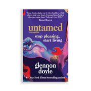 Book for empowering women and positivity with purple colourful ink and glitter paint cover