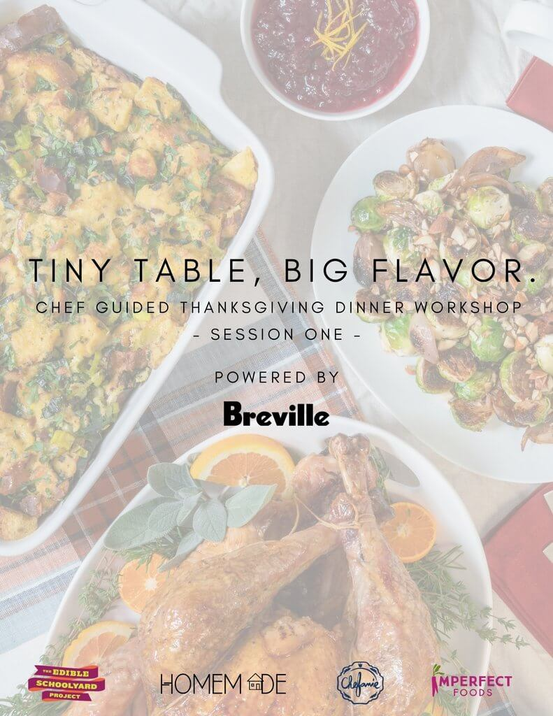 Tiny Table, Big Flavor: Chef Guided Thanksgiving Dinner Workshop (Session One)