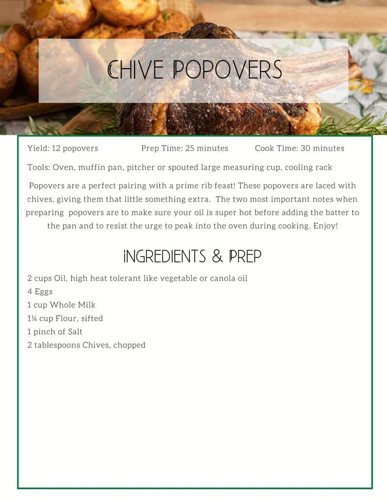 Chive Popovers
