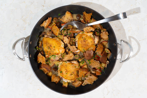 Cider Braised Chicken with Croutons - September 7