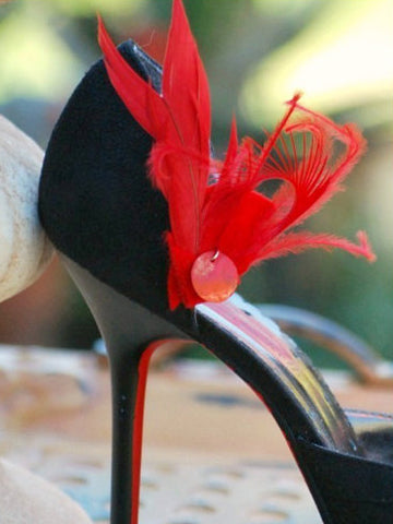 Red Feather Shoe Clip