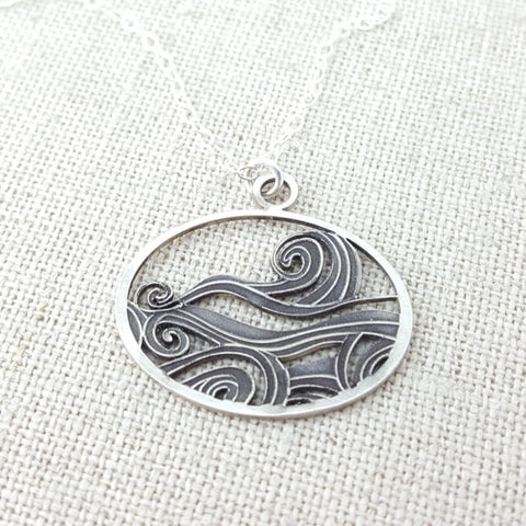 Waves Cutout Necklace