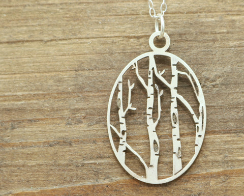 Birch Tree Necklace