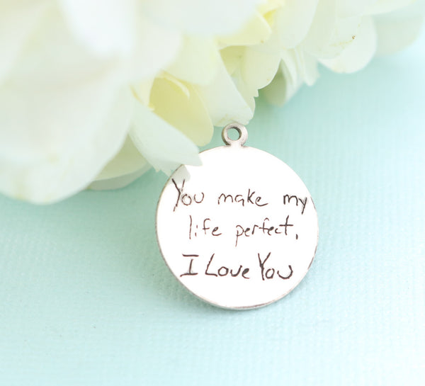Actual Handwriting Bouquet Charm
