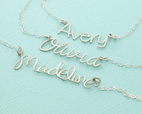 Custom Name Cutout Necklace