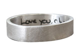 Actual Handwriting Ring - 5mm Band
