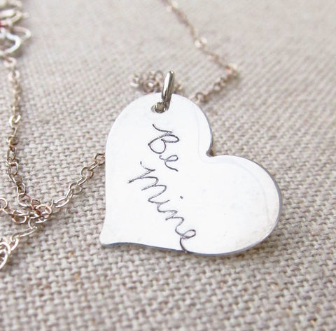 Heart Actual Handwriting Necklace