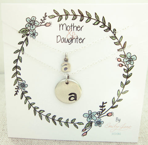Mother Daughter Initial Necklace