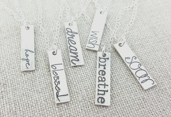 Inspiration Word Charm Necklace