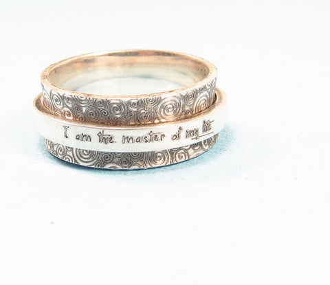 Personalized Silver Spinner Ring