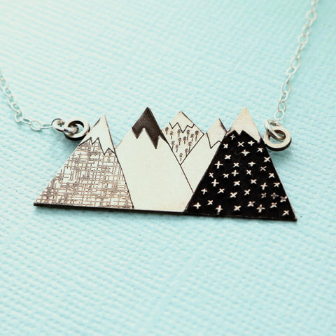 Mountains Cutout Necklace