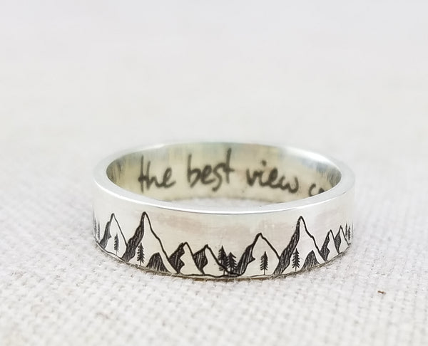 Mountains Ring · the best view comes after the hardest climb