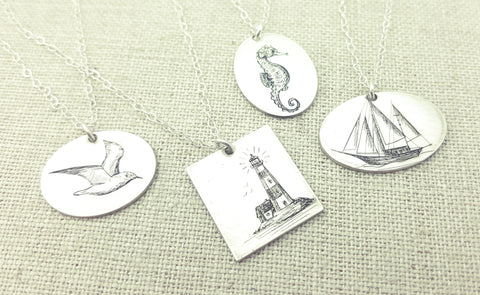 Nautical Sketch Necklace