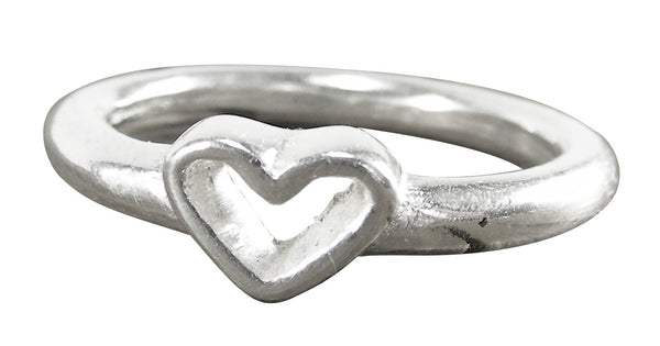 Open Heart Ring - Pewter