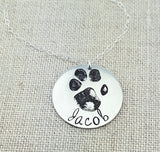 Actual Paw Print Necklace