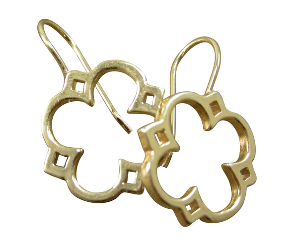 Quatrefoil Clover Cut-out Dangle Earrings