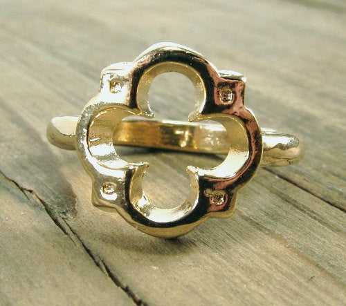 Quatrefoil Ring - Pewter