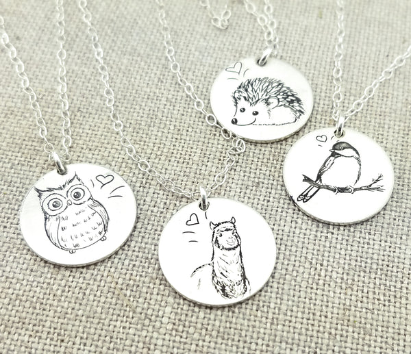 Sketched Animal Necklace