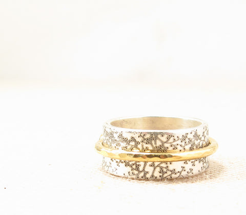 Mixed Metal Spinner Ring