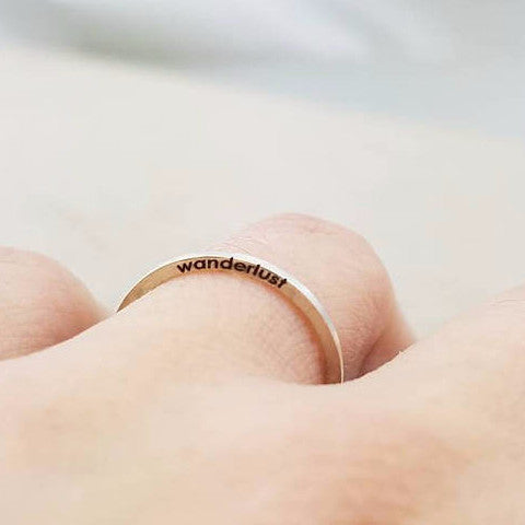 Thin Ring with Side Engraving
