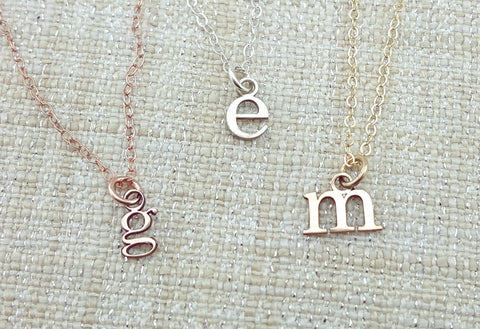 Tiny Cutout Initial Necklace