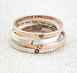 Dainty Love Sentiments Rings