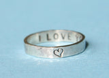 Personalized Thin Secret Message Ring