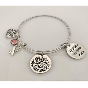 Hope Silver bracelet - Fight against Breast Cancer