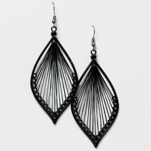 Black Web Dangling Earrings