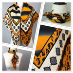 Load image into Gallery viewer, Animal Print Silk Scarf