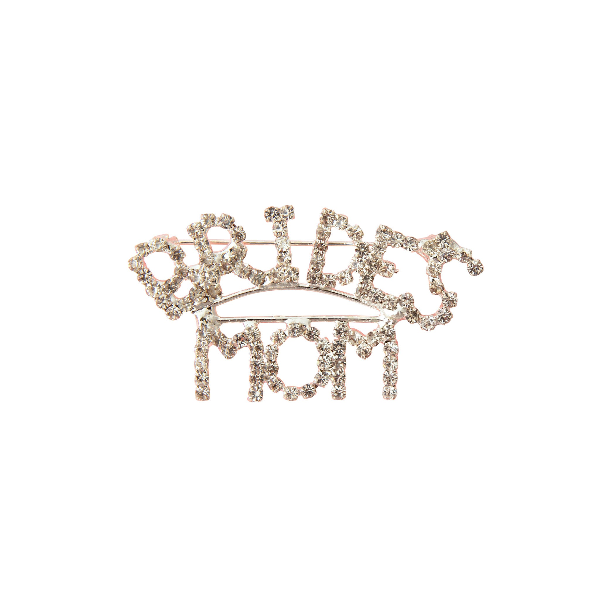 Bride's Mom Rhinestone Brooch