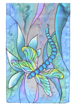 Load image into Gallery viewer, Dragonfly Silk Scarf