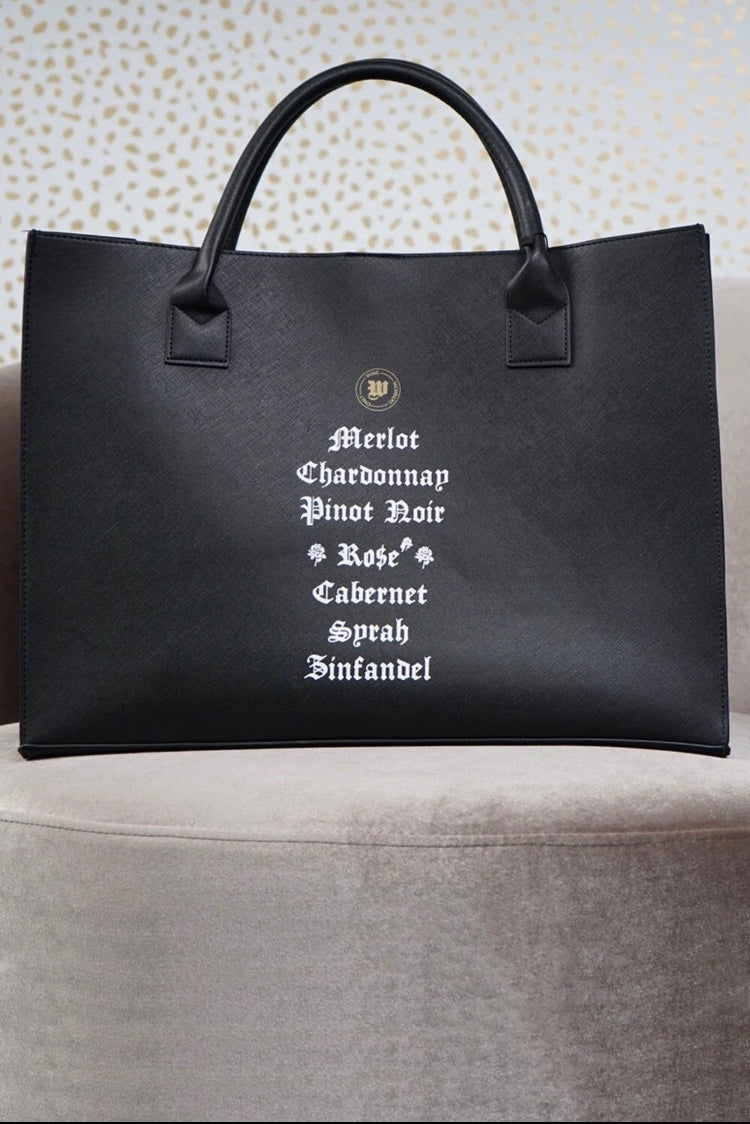 Wine Vegan Tote Bag