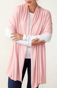 Silk and Cashmere Wrap (Blush Pink)