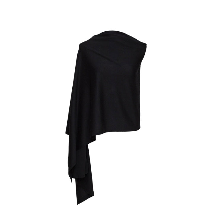 Silk and Cashmere Wrap (Black)