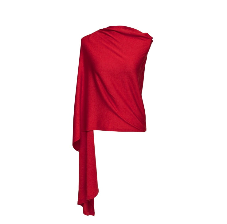 Silk and Cashmere Wrap (Red)
