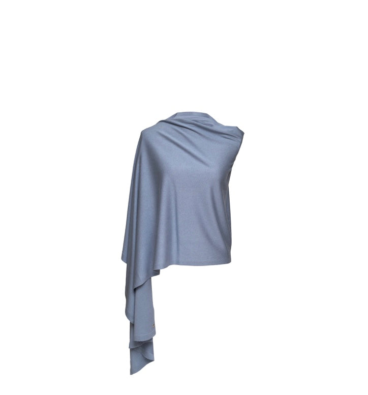 Silk and Cashmere Wrap (Sky Blue)