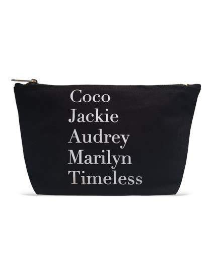 """Coco, Jackie, Audrey, Lucy...Timeless"" Make Up Bag"
